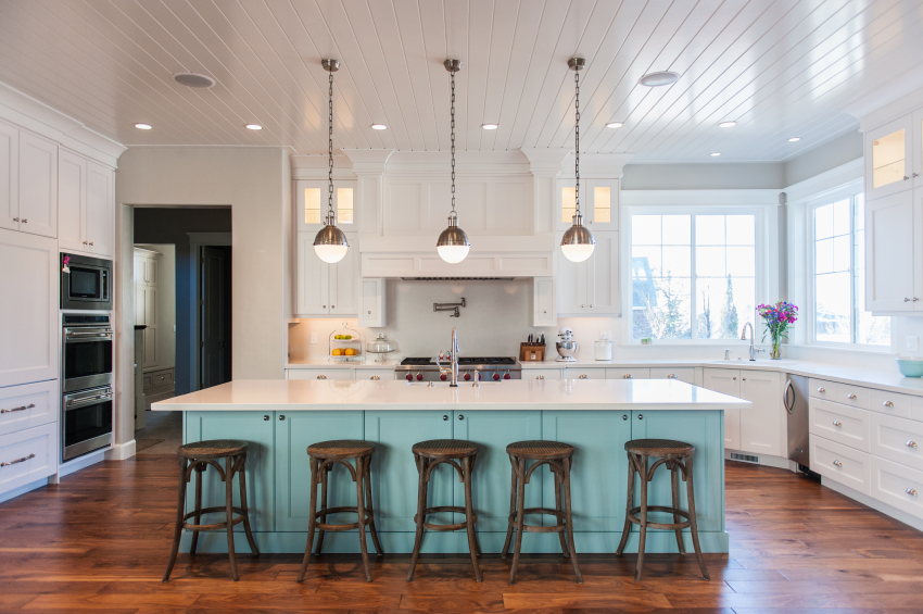 THE USE OF COLOR AS SEEN IN 2014 KITCHENS by Hanson Construction